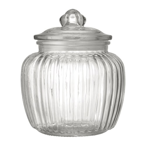 KAPPROCK - Hũ thủy tinh 1.4l/Jar with lid, clear glass