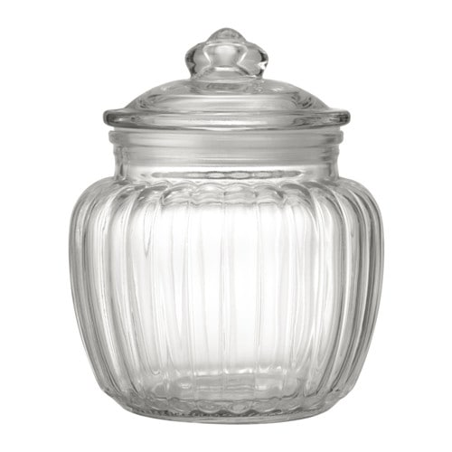 KAPPROCK - Hũ thủy tinh 0.6l/Jar with lid, clear glass