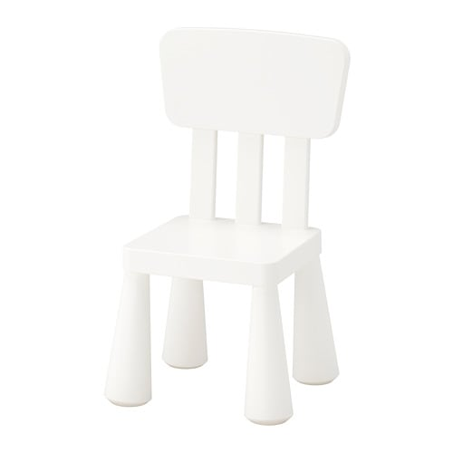 MAMMUT- Ghế tựa lưng/Children's chair, in/outdoor, white